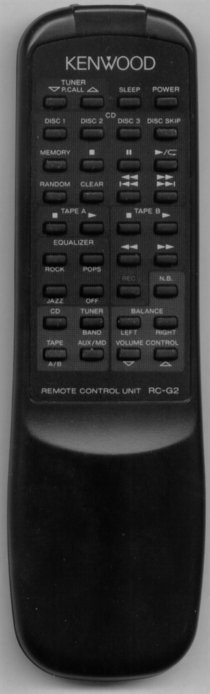 KENWOOD A70-1097-08 RCG2 Refurbished Genuine OEM Original Remote