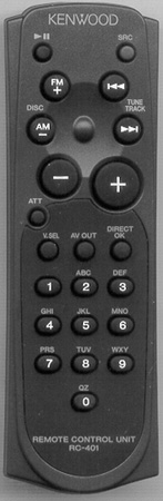 KENWOOD A70-2031-05 RC401 Genuine OEM original Remote