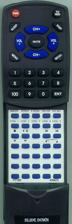 KENWOOD A70-1128-05 RC-P0504 Custom Built Redi Remote
