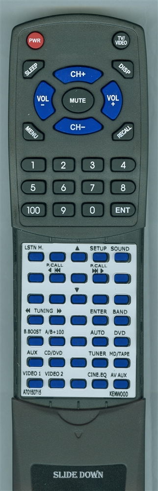 KENWOOD A70-1507-15 RCR0617 Custom Built Redi Remote