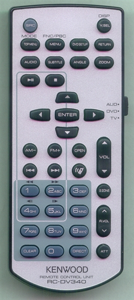 KENWOOD A70-2083-15 RCDV340 Genuine OEM original Remote