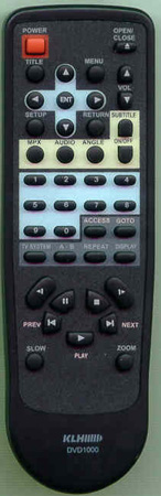 KLH DVD1000 DVD1000 Genuine  OEM original Remote