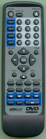 KLH DVHE2500REMOTE Genuine  OEM original Remote