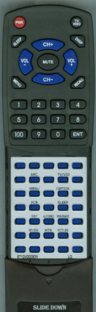 LG 6710V00090N 6710V00090N Custom Built Redi Remote