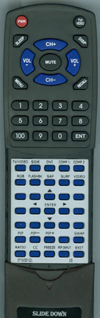 LG 6710V00102L 6710V00102L Custom Built Redi Remote