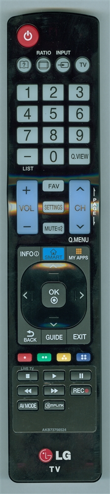 LG AKB73756524 Genuine OEM original Remote