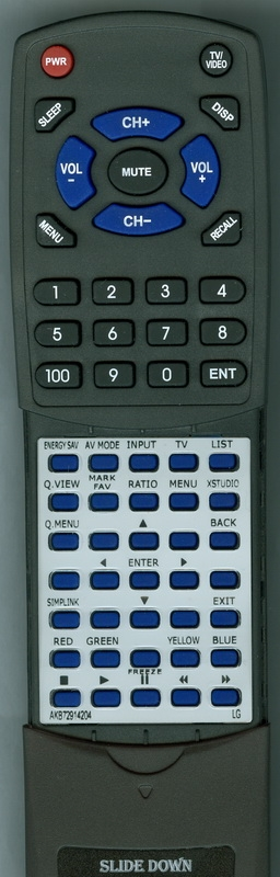 LG AKB72914204 Custom Built Redi Remote