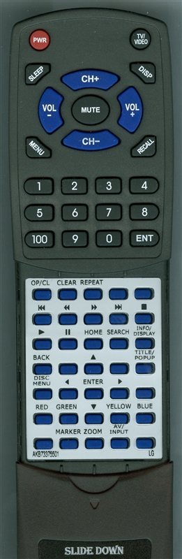 LG AKB73375501 Custom Built Redi Remote