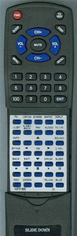 LG AGF76692601 AKB73715608 Custom Built Redi Remote