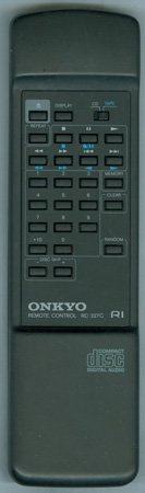 ONKYO 24140227 RC227C Genuine  OEM original Remote
