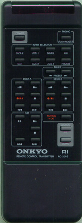 ONKYO 24140206 RC-206S Genuine  OEM original Remote