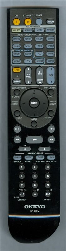 ONKYO 24140742 RC-742M Genuine  OEM original Remote