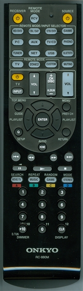 ONKYO 24140880 RC-880M Genuine OEM original Remote