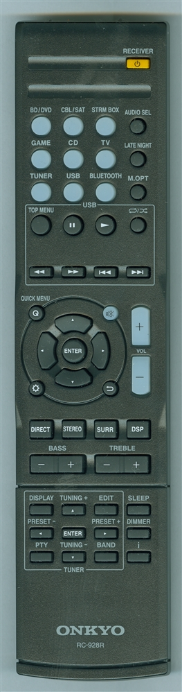 ONKYO 8300928000010S RC-928R Genuine OEM original Remote
