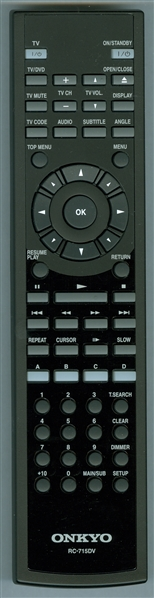 ONKYO P86D00000180 RC-715DV Genuine OEM original Remote