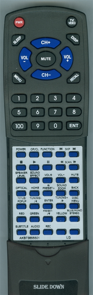ONKYO 24140763 RC-763M Custom Built Redi Remote