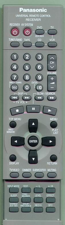 PANASONIC EUR7622KA0 Genuine OEM original Remote