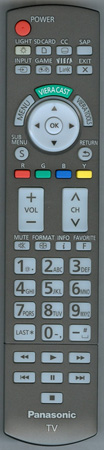 PANASONIC N2QAYB000486 Genuine OEM original Remote