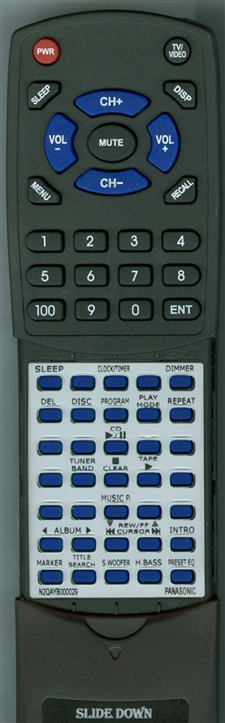 PANASONIC N2QAYB000029 Custom Built Redi Remote