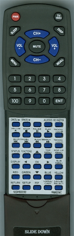 PANASONIC N2QAYB000382 Custom Built Redi Remote