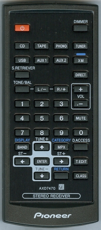 PIONEER 8300747000010-IL AXD7470 Genuine OEM original Remote