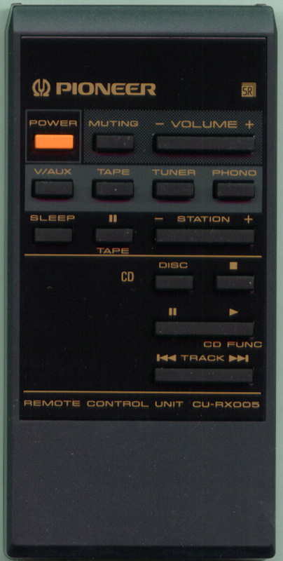 New CU-RX018 For Pioneer CD LD sound System Original Remote Control