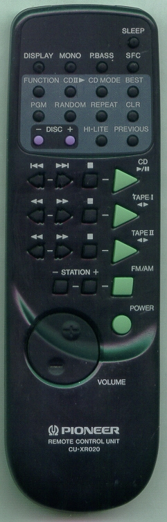PIONEER AXD7068 CUXR020 Refurbished Genuine OEM Original Remote