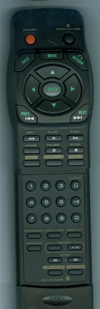 PIONEER CU-DV035 CUDV035 Refurbished Genuine OEM Original Remote