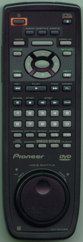 PIONEER VXX2602 CUDV026 Refurbished Genuine OEM Original Remote