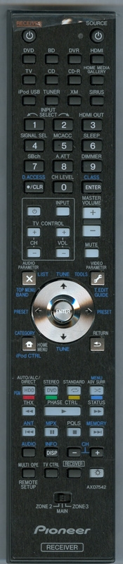 PIONEER AXD7542 Genuine OEM original Remote