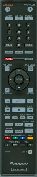 PIONEER VXX3391 Genuine OEM original Remote