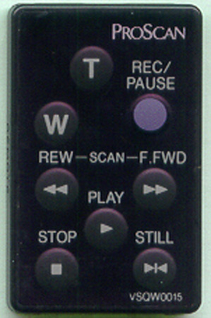 PROSCAN 221285 VSQW0015 Genuine OEM original Remote