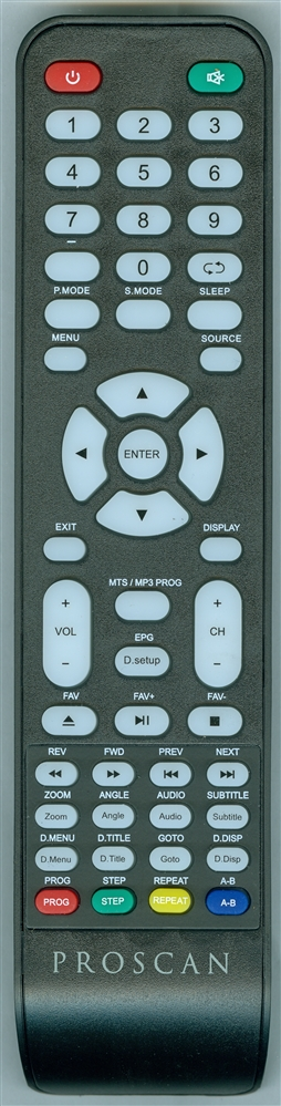 PROSCAN PLEDV2491AB Genuine OEM Original Remote