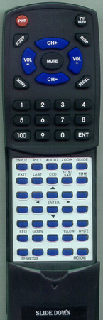 PROSCAN 0NEW-RMT-0258 Custom Built Redi Remote