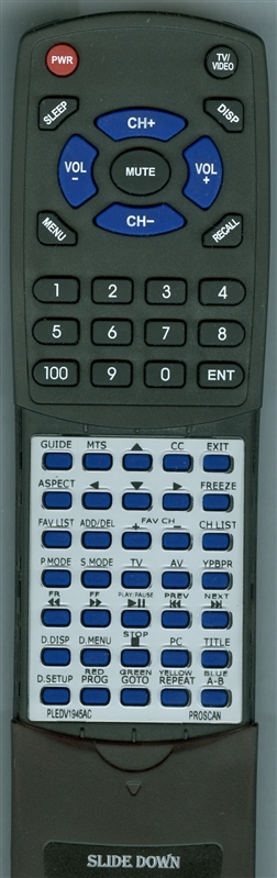 PROSCAN 8PD YPBPR Custom Built Redi Remote