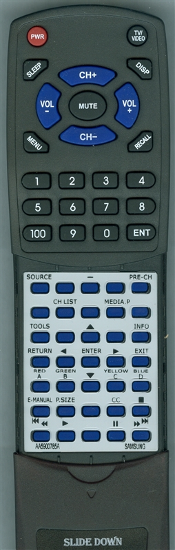 SAMSUNG AA59-00785A Custom Built Redi Remote