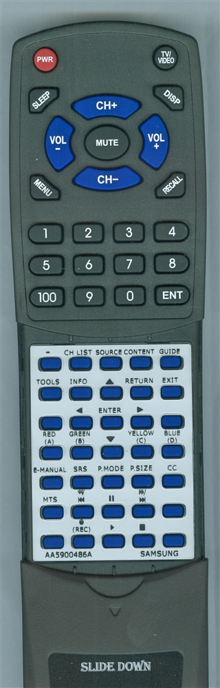 SAMSUNG AA59-00486A Custom Built  Redi Remote