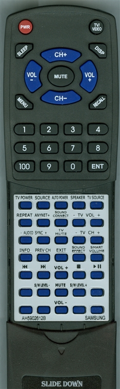 SAMSUNG AH59-02612B Custom Built Redi Remote