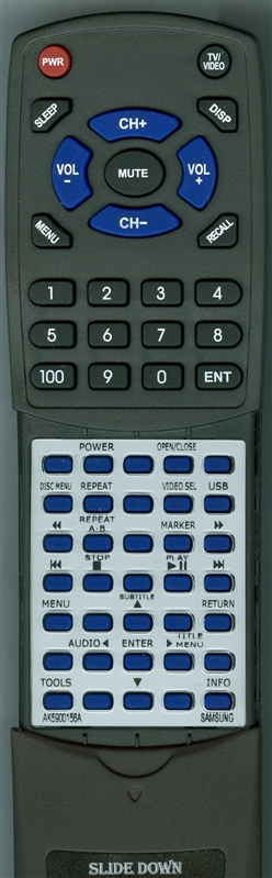 SAMSUNG AK59-00156A Custom Built Redi Remote