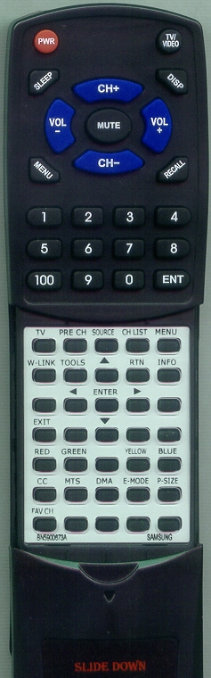 SAMSUNG BN59-00673A Custom Built Redi Remote