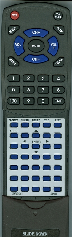 SANSUI 076R0QK011 Custom Built Redi Remote