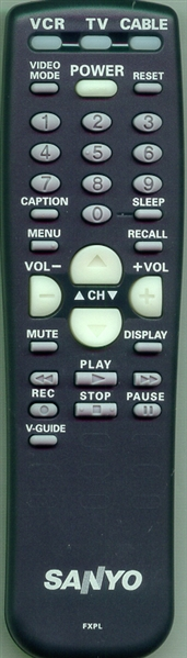 SANYO 645 032 6165 FXPL Genuine  OEM original Remote