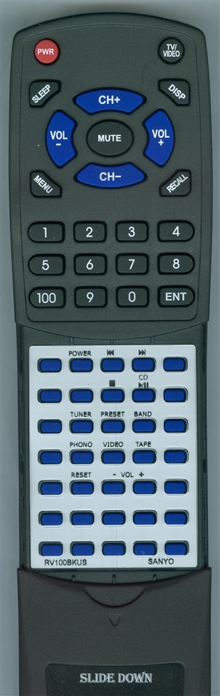 SANYO RV100BK-US RB100 Custom Built  Redi Remote
