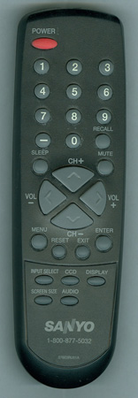 SANYO 076E0RU01A Genuine OEM original Remote