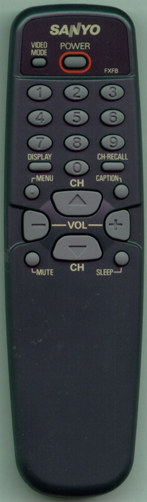 SANYO 645 006 8546 FXFB Genuine  OEM original Remote