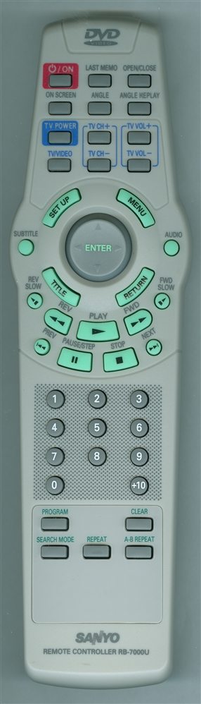 SANYO 645 043 5843 RB-7000U Genuine OEM original Remote