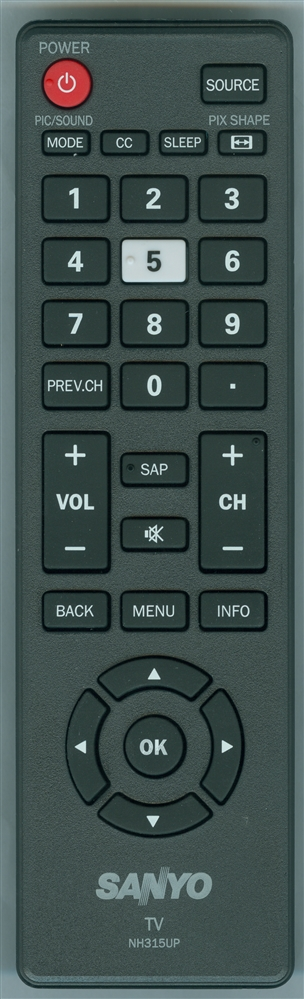 SANYO NH315UP Genuine OEM original Remote