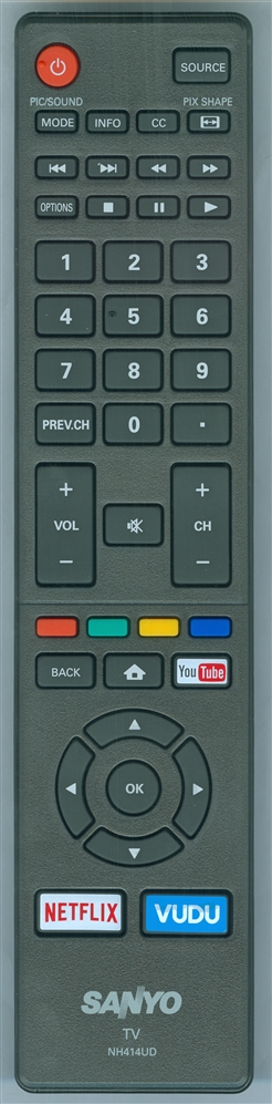 SANYO NH414UD Genuine OEM original Remote