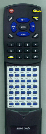 SANYO 645 058 1106 RBTS760MT Custom Built Redi Remote
