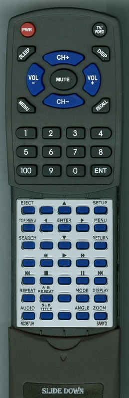SANYO NC087UH NC087 Custom Built  Redi Remote